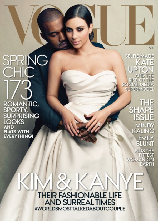 kanye and kim on vogue